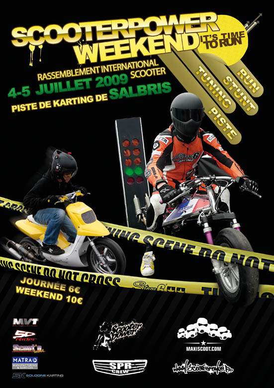 Affiche Scooterpower Weekend